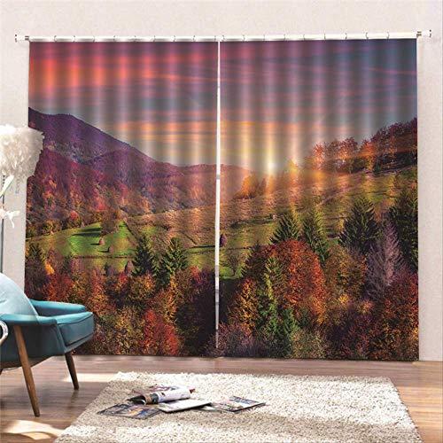 cortinas salon turquesa y marron