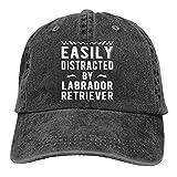 Yuantaicuifeng Labrador Retriever es un Sombrero de Vaquero Unisex y Personalizado Que se distrae fácilmente con sombrilla Ajustable