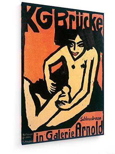 Ernst Ludwig Kirchner - KG Brücke - In Galerie Arnold - 80x120 cm - Leinwandbild auf Keilrahmen - Wand-Bild - Kunst, Gemälde, Foto, Bild auf Leinwand - Alte Meister/Museum