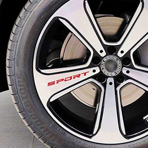 JIERS para BMW E46 E60, para Ford Focus 2, para Peugeot 206, para Kia, para Opel, Pegatinas de Coche, Llantas, calcomanías, Accesorios