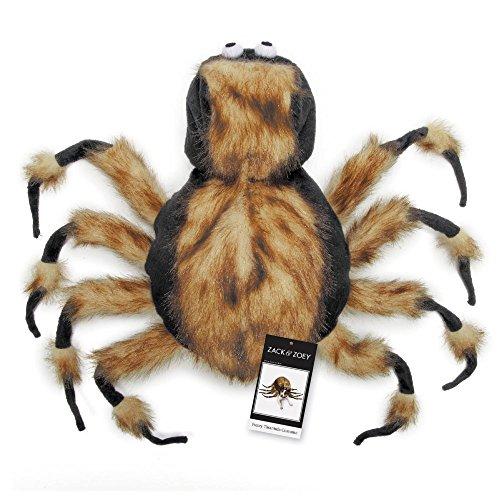 Zack & Zoey Fuzzy Tarantula Costume for Dogs, 16″ Medium
