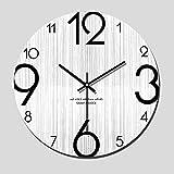 Moderno y minimalista moderno salón reloj de pared de madera nórdica creativo...
