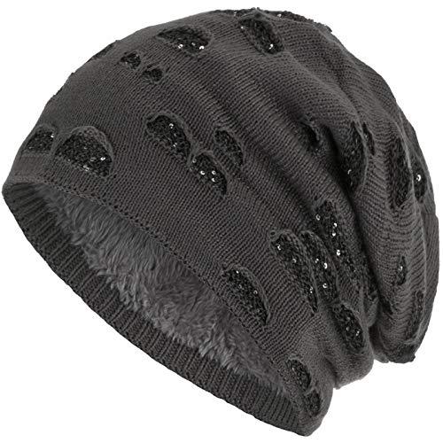 Compagno Beanie Gorro de invierno con suave interior punto agujero elegante con...