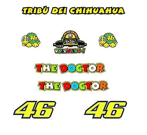 Ecoshirt QI-5VYV-19YD Pegatinas Tribu Chihuahua Rossi Vr46 R328 Stickers Aufkleber Decals Autocollants Adesivi, Amarillo