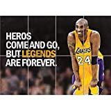 HEROES NBA BASKETBALL KOBE BRYANT LOS ANGELES LAKERS GIANT