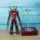 zxwd Figuras de Acción Juguetes Spider-Man/Iron Man/Thanos/Negro Panthe - Legends Final de Partida 6.5inch móviles extremidades LED -Car Colección decoración Juguete (Color: 9)