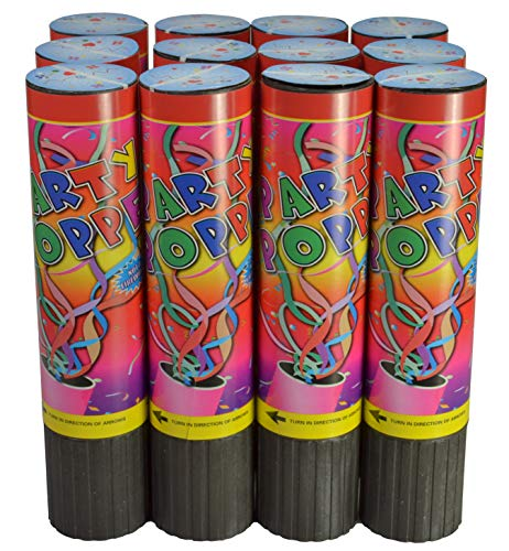 Confetti Poppers Party Accessory 8 Inch (24 Pack)