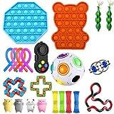 Juego de juguetes sensoriales Fidget, juguetes para aliviar la ansiedad, surtido de juguetes especiales para regalos de fiesta de cumpleaños, premios para el aula escolar, premios de carnaval (23pcs)