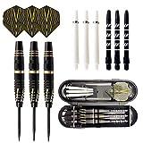 unknows Juego de dardos de punta de aguja, 3 unidades, juego de dardos de punta de aguja de competición profesional reemplazables con estuche