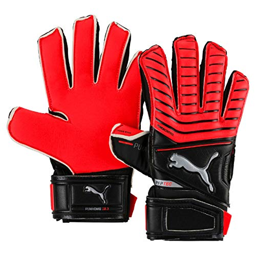 PUMA One Protect 18.3 JR Handschuhe Torwart, Red Blast Black-Silver, 4