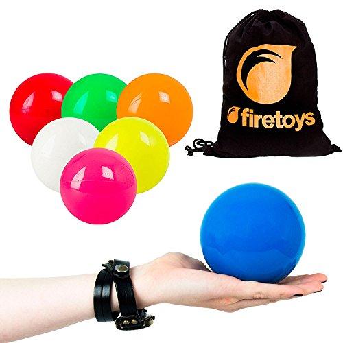 Play Sil-X 100mm Contact Juggling Ball + Firetoys® Bag, Various Colours (UV Orange)