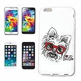 Reifen-Markt Hard Cover - Funda para teléfono móvil Compatible con Samsung Galaxy S3 Mini Amo MI Perro Yorkie Terrier York CRIANZA CASA Perros Perrera DE CRIADORES