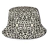 shifeiwanglu Gorro de Pescador, Printed Leopard Bigger and Better Fisherman Polyester Hat, Casual Travel Headgear Sun Hat