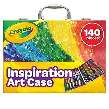 Crayola Inspiration Art Case Coloring Set Gift for Kids 140 Art Supplies