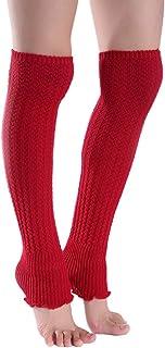 Asudaro Medias de punto para mujer, calentadores de piernas, calentadores de lana, calentadores de rodilla, polainas, calcetines, calentadores de piernas, calcetines, 50 cm