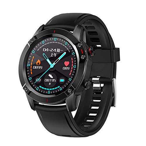 Reloj de pulsera inteligente, rastreadores de actividad física con pantalla táctil a color y monitorización de la presión arterial con frecuencia cardíaca IP68, resistente al agua