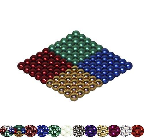 Mag-Balls - 100 bolas magnéticas de 5 mm para pizarras blancas, pizarras magnéticas, neveras, muchos modelos