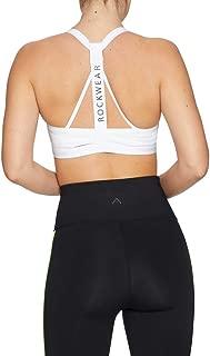 Rockwear Activewear Women's Mono Pop Mi T Back Bra White 16 From size 4-18 Medium Impact Bras For