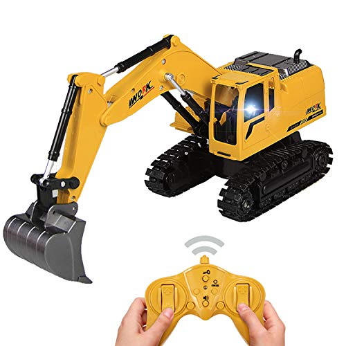 Tuko Remote Control Excavator Toys RC Engineering Construction Truck Toy for Ages of 6+ Boy and Girl Gift