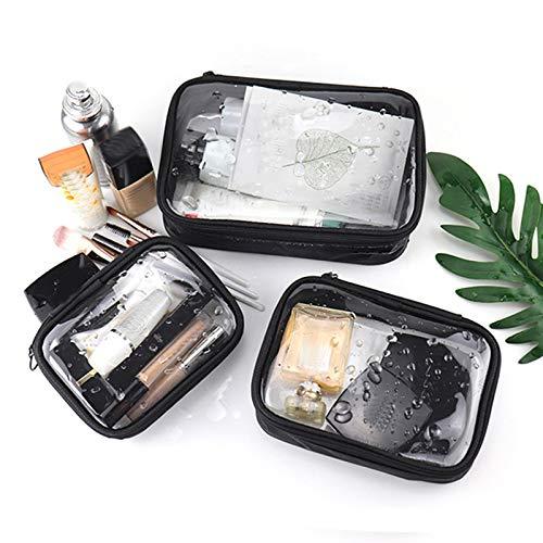 SYXX Caja de almacenaje Empresa Impermeable Transparente PVC Cosmetic Bag Mujeres Maquillaje Caso Viajes Cremallera Maquillaje Belleza Lavado Organizador Bolsas de Almacenamiento de Inodoro