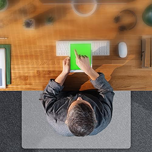THE BIG things® Bodenschutzmatte transparent - Clear Stuhlmatte für Hartböden - 140x100cm - matt - Bürostuhl Unterlage - Kratzfest Stuhlmatten