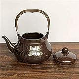 ViewSys Tetera, Juegos de té Tea Pots esmaltado Hervidor teteras Ollas Esmalte Esmalte Hervidor Tetera Simple Hotel Casa de Té Hotel Echar Las Gotas del Agua Taza de té, (Color : 2.5l)