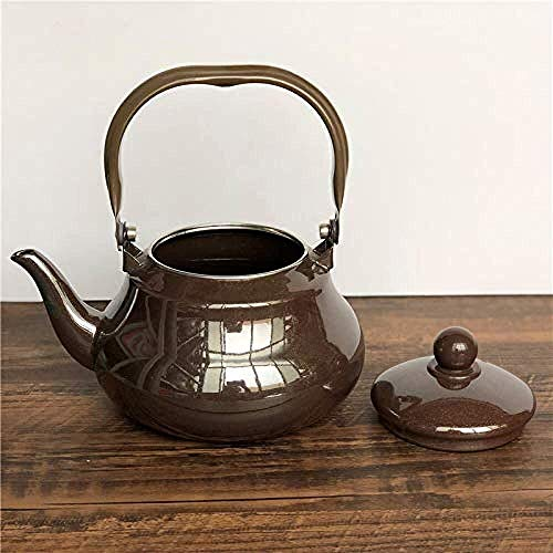 GUOCAO Juegos de té Tea Pots esmaltado Hervidor teteras Ollas Esmalte Esmalte Hervidor Tetera Simple Hotel Casa de Té Hotel Echar Las Gotas del Agua Cerámico (Color : 1.5l)
