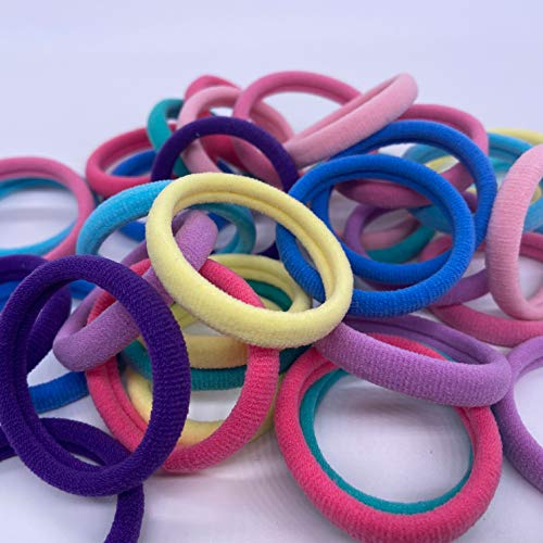 Soft Hair Ties For Women Thick Hair,Colorful And Black Hair Ties,Hair Ties For Elastic Girl,Thick Hair Ties Ponytail Holders,No Crease Cute Slip Variety-36pcs(Colorful)