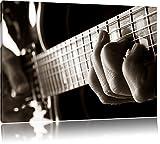 Dark Gitarre spielen Bild auf Leinwand, XXL riesige Bilder