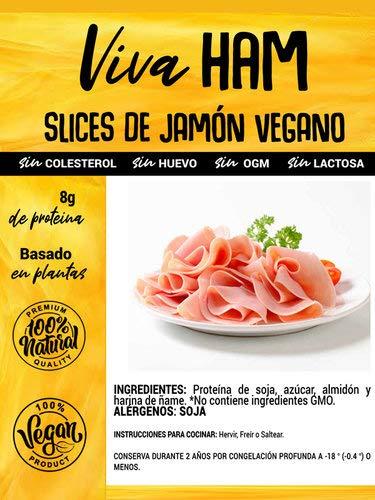 VIVA PLANTA LONCHAS DE JAMON VEGANO 300g | Sin Gluten | Vegan | Sin carne | 100% Vegetal | Plant Based | Sin Gluten