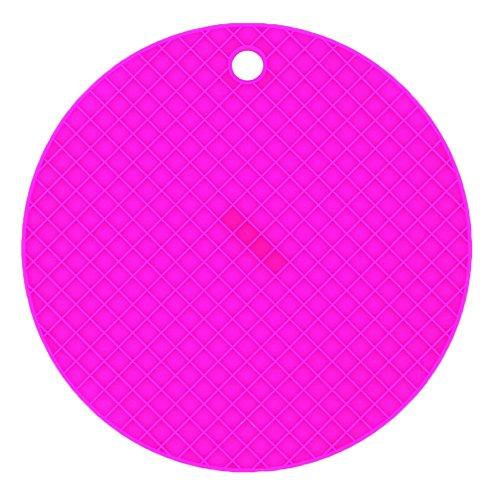 DaoRier 1× Dessous de Plat/Maniques en Silicone/Dessous de Plat/Manique Rond en Silicone/Résistant à la Chaleur Jusqu/Tapis Rond en Silicone/Résistants à la Chaleur pour Cuisine/Antidérapan