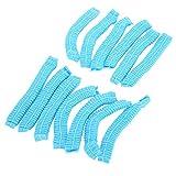 100 piezas desechables gorro de ducha para el cabello no tejido antipolvo tira de sombrero azul no t...