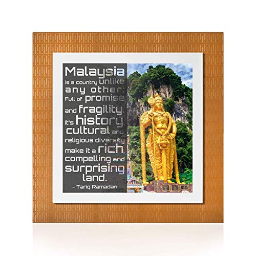 YOUPi! Your Best Feeling Stadtbild von Kuala Lumpur | Originelles Geschenk | Zwei Teile durch Magneten | Größe 30 x 30 (Lux)