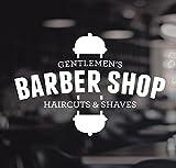 Barberos Pole signo de vinilo de corte de pelo afeita Gentlemen 's Shop Peluquería Hair Salon ventana letras adhesivo