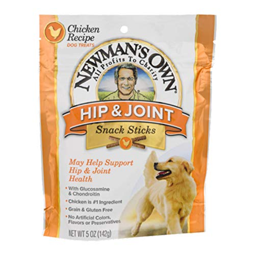 Newman's Own Functional Snack Sticks for Dogs, Hip & Joint, Chicken Recipe, 5-oz. (Pack of 8)