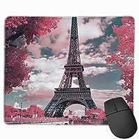 フランスパリエッフェルタワーメープルリーフの風景 マウスパッド ゲーミングマウスパッド ラップトップマット pcマウスパッド リストレスト ラバーマット 滑り止め 耐久性 高級感 25*30