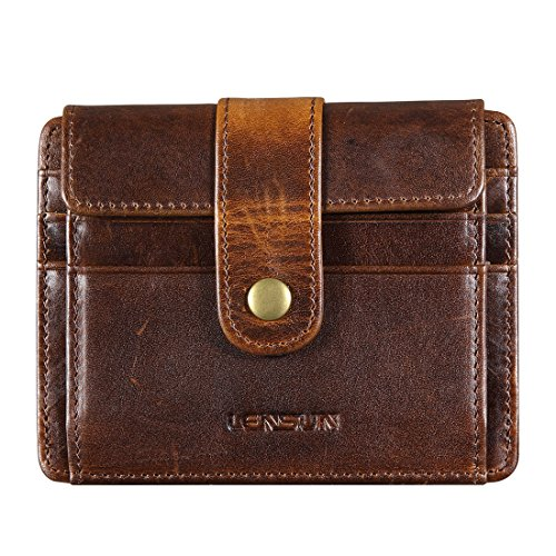 LENSUN Men's Credit Card Wallet RFID Blocking Slim Genuine Leather...