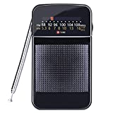 Portable Radio AM FM Battery Operated Pocket Radio Easy Tuning Power Saving…