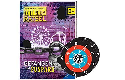Collectix Exit Room Rätsel: Gefangen im Funpark (Gebundenes Buch) + 1x gratis Word-A-Round Minispiel