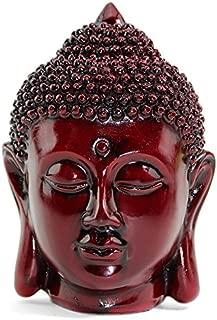 Smiling Meditating Buddha Shakyamuni Head Statue 5