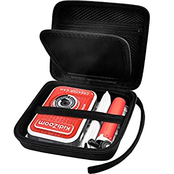 Kid Toy Camera Case for VTech Kidizoom Creator Cam Video Camera Hard Travel Carrying Storage with Accessories Pocket - Black