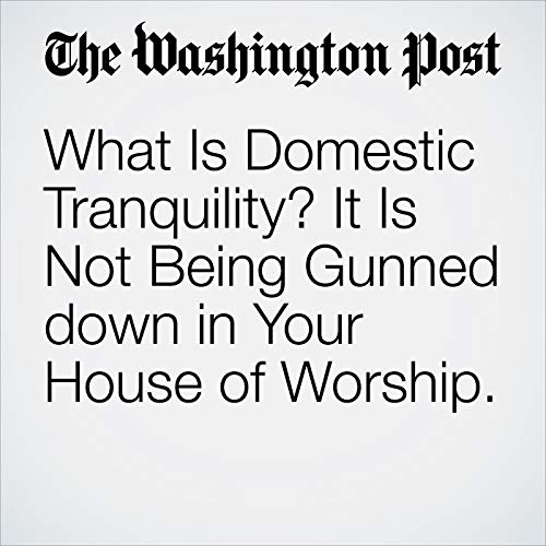 What Is Domestic Tranquility? It Is Not Being Gunned down in Your House of Worship. audiobook cover art