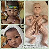 Zero Pam Unpainted Reborn Baby Dolls 50cm-55cm Reborn Toddler Doll Kits (No Gender Characteristics) DIY Doll Include ( Limbs, Head, Body and Eyes) (1809)