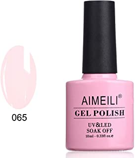 AIMEILI Soak Off UV LED Gel Nail Polish - Pink Nude (065) 10ml