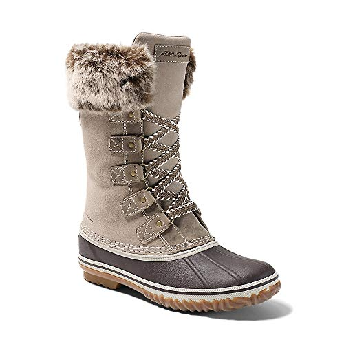 Eddie Bauer Women's Hunt Pac Deluxe Boot, Stone Regular 8.5M