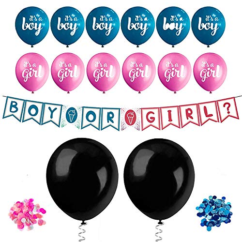 Gender Reveal Balloons Confetti Decorations Party