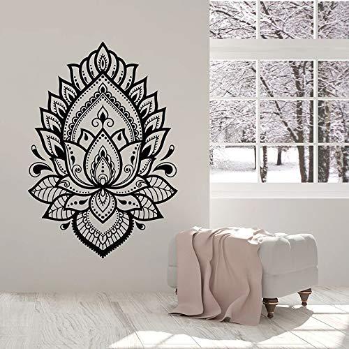 Flores flor tatuajes de pared estudio de yoga sala de meditación decoración de interiores vinilo pegatinas de ventana papel tapiz creativo
