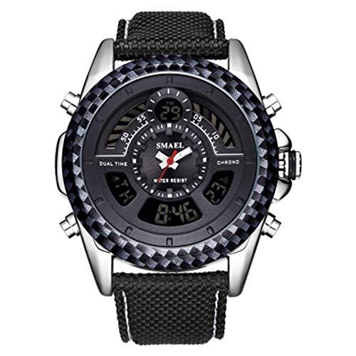 Reloj de los hombres del movimiento del cuarzo del dial grande del reloj del cuero de la correa del reloj impermeable y resistente a los arañazos mejor regalo de los hombres de fengong ( Color : A )