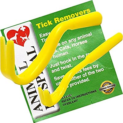 Tick Removers Tools From Animal Hospital Pack of Two (one big one small) The Best Most Effective Tick Removal Tool on The Market, Used For The Safe Removal Of Ticks from Big Onion