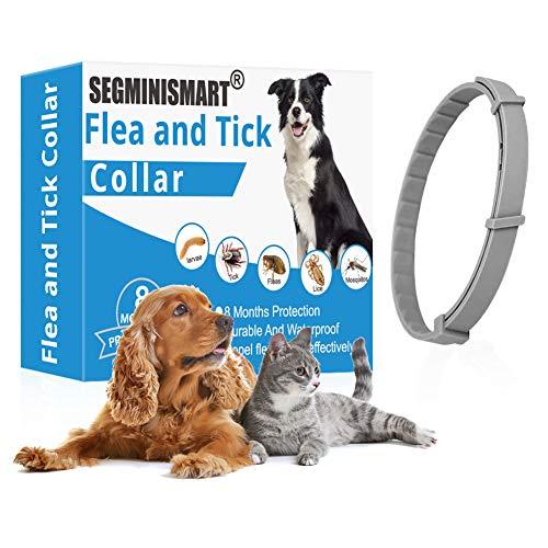 SEGMINISMART Collar Antiparasitos para Perro,Collar antipulg
